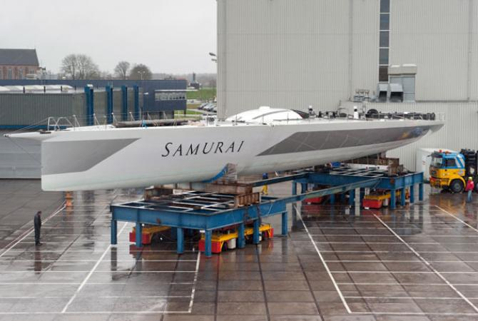 Super Yacht Samurai taking shape