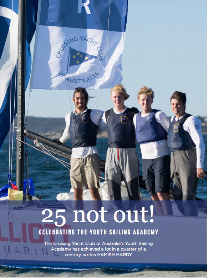CRuising Yacht Club of Australia Celebrates 25 Years of Youth Sailing